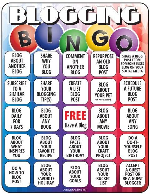Blogging Bingo Printable - Here is a free Bingo Printable for blogggers. This Bignog sheet has blog post ideas. #Bingo #BloggingBingo