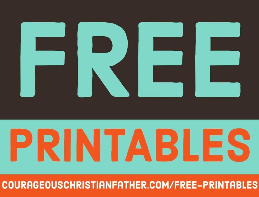 Free Printables #FreePrintables