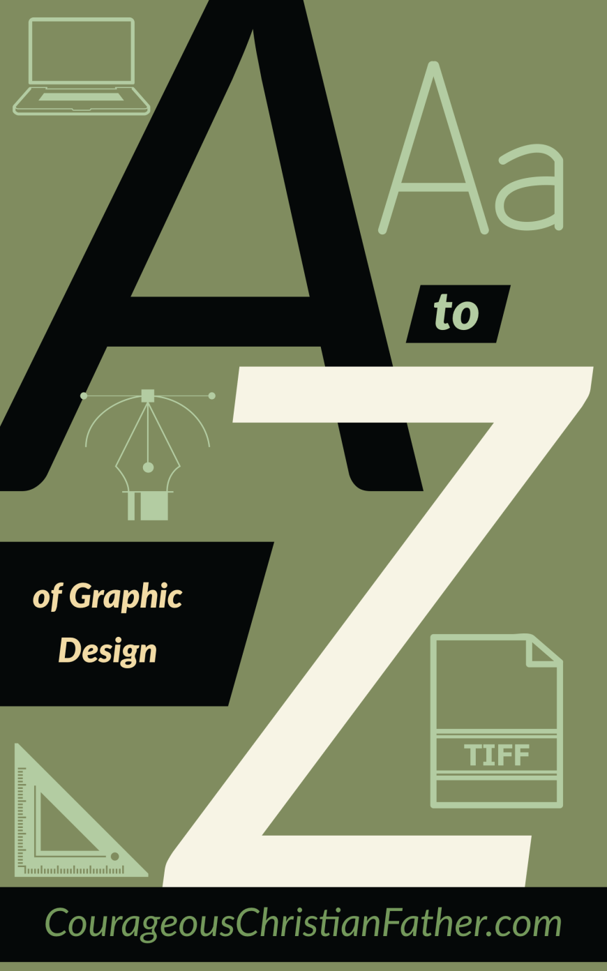 The A-Z of Graphic Design - This is a list of Graphic Design terms using each letter of the alphabet form A-Z. #GraphicDesign