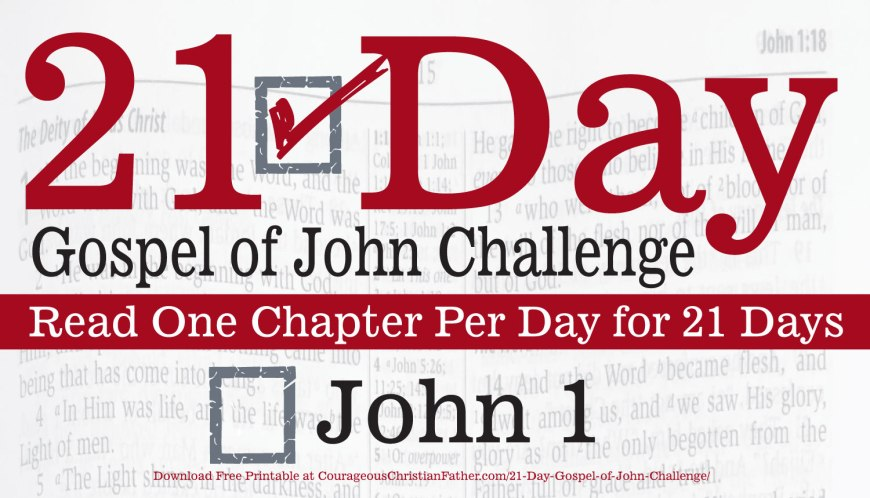 John 1. Today is day one of the 21 day Gospel of John challenge. Read chapter 1 of the Gospel of John. In this blog post I talk about that first chapter. #John1