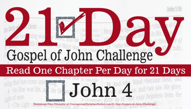John 4 - Today is day four of the 21 Day of Gospel of John Challenge. So today read the fourth chapter of the Gospel of John. #John4