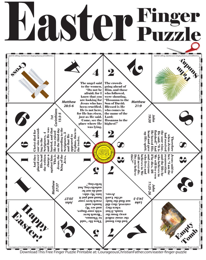 Easter Finger Puzzle Printable