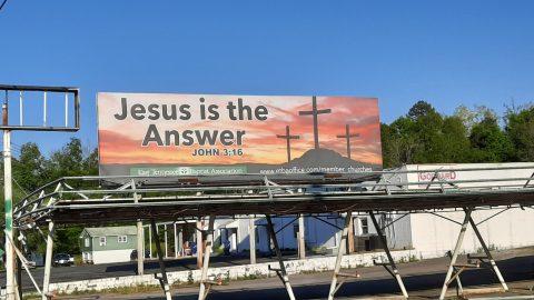 Jesus is the Answer Billboard
