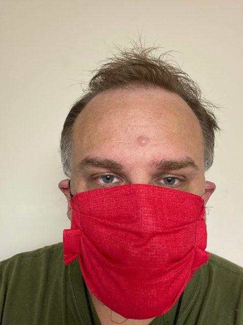 My wearing my 2nd mask I made.