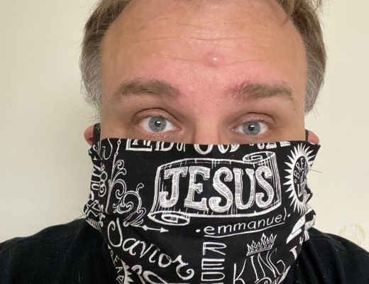 Jesus Mask I made Wearing a face mask is not showing fear - It actually is the opposite. It shows your concern for others around you! #FaceMask