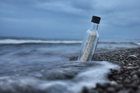Message in a Bottle - If I was at the beach and wanted to write a message and put it in a bottle and put it out to sea, what would I want it to say and who would I like to find it? #MessageInABottle