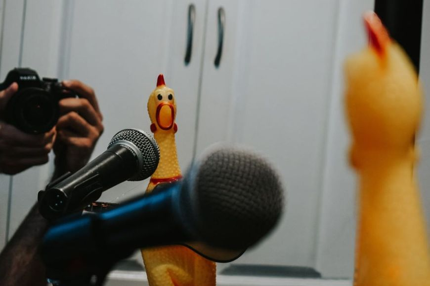 Worshicken - a Rubber chicken that squeaks to Christian Music songs. #Worshicken