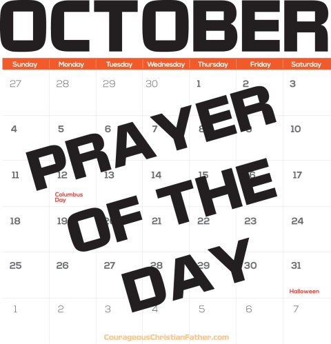 October Prayer of the Day - Today's prayer of the day is topical for our upcoming month, October. #October