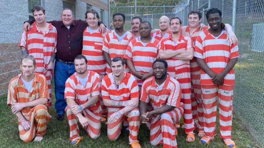 17 Mississippi inmates get baptized - A New Start - Photo Compliments: Covington County Sheriff's Office FB page