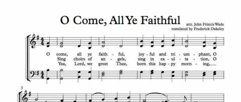 "Christmas Carol Spotlight: O Come All Ye Faithful - The history of and lyrics to ""O Come, All Ye Faithful."" #OComeAllYeFaithful"