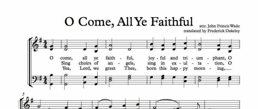 "Christmas Carol Spotlight: O Come All Ye Faithful - The history of and lyrics to ""O Come, All Ye Faithful."" #OComeAllYeFaithful"