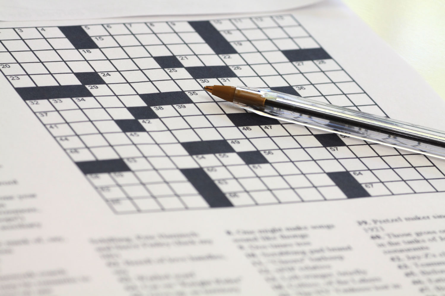 The benefits of crossword puzzles
