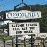 Autumn Leaves Fall Church Sign