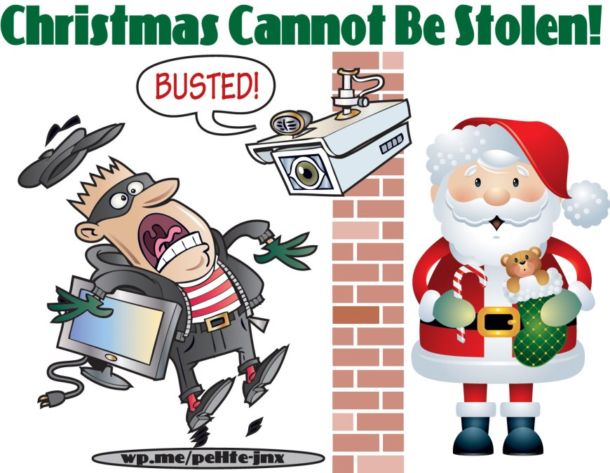 Christmas Cannot Be Stolen! No one can steal Christmas from us, nor can anything else including a pandemic. #Christmas