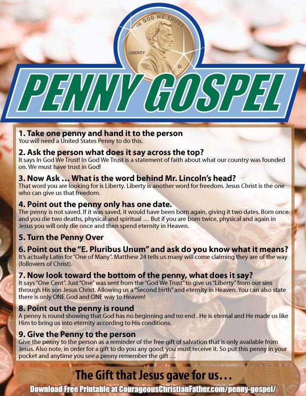 Penny Gospel Printable #Penny #PennyGospel