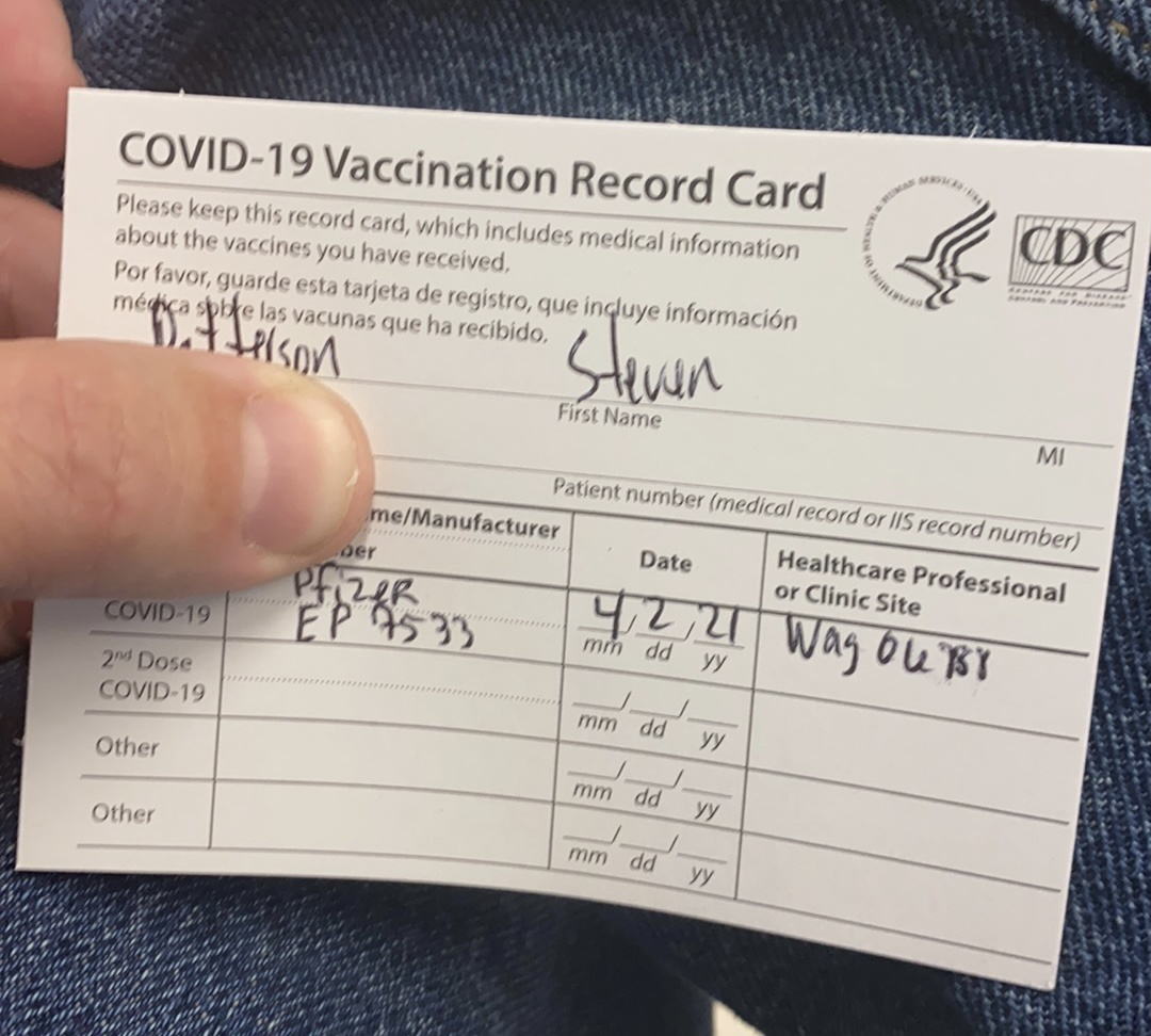 1st covid-19 vaccine done