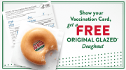 Get a Free Donut Daily for being COVID-19 Vaccinated
