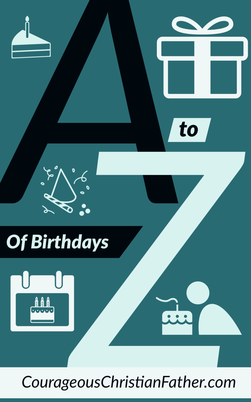 A-Z of Birthdays - Here is a list of things from A to Z about birthdays. #Birthday #Birthdays