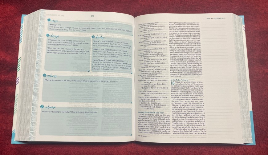 Verse Mapping Bible for Girls Review - This is a review of the NIV Verse Mapping Bible for Girls. Gathering the Goodness of God's Word. A Unique Way to Explore the Bible by Kristy Cambron. #VerseMapping