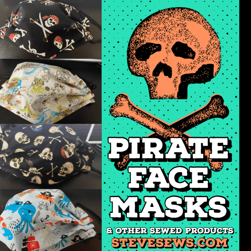 Pirate Face Masks and other Pirate Sewed Items