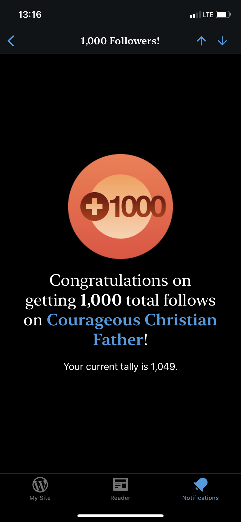 1,000 WordPress Followers