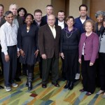 Ira Chaleff stands front and center with board of International leadership Association.