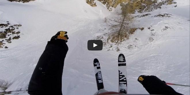 léo taillefer fait une descente à ski de folie à val d'Isere