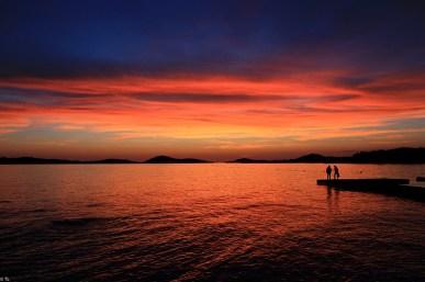 Coucher de soleil Pag Croatie