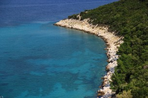 côte de lïle de Thasos, Grèce