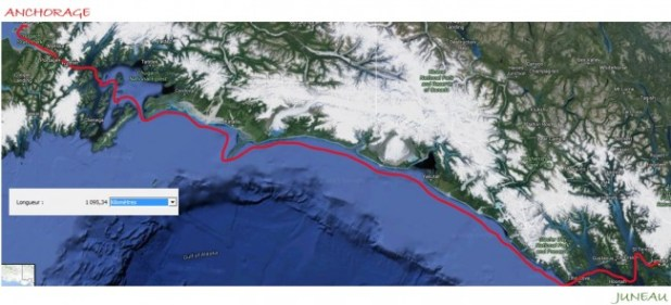 maps juneau anchorage trajet kayak