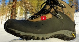 chaussures dans la neige