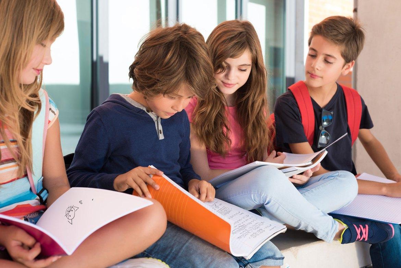 élèves cours de primaire