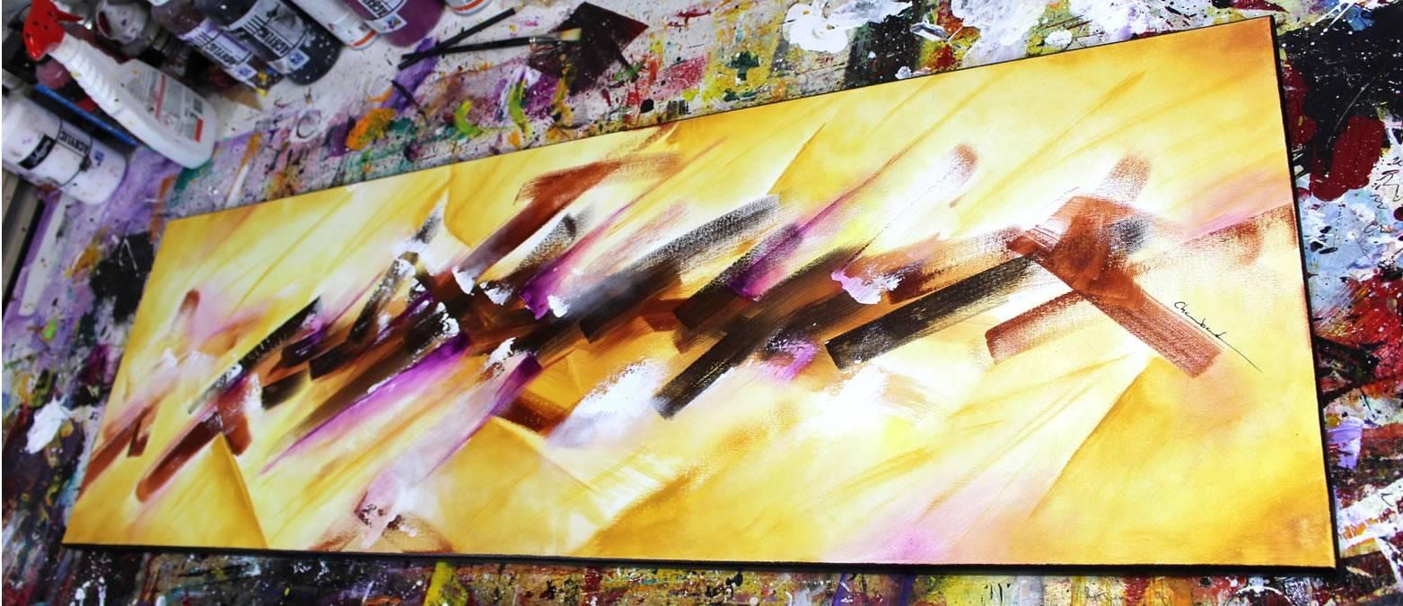 Demonstration De Peinture Abstraite
