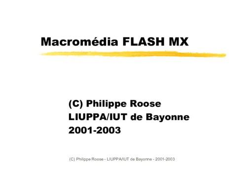 10 Cours Flash en PDF à télécharger