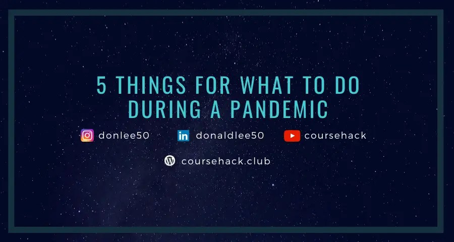 what to do during a pandemic