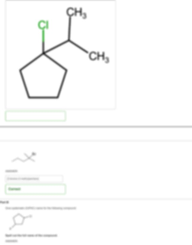 ANSWER ANSWER Correct When you look at a hydrocarbon the