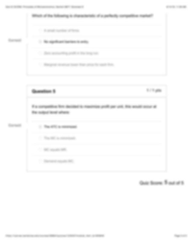 Quiz 8: ECON2: Principles of Microeconomics: Section 8877