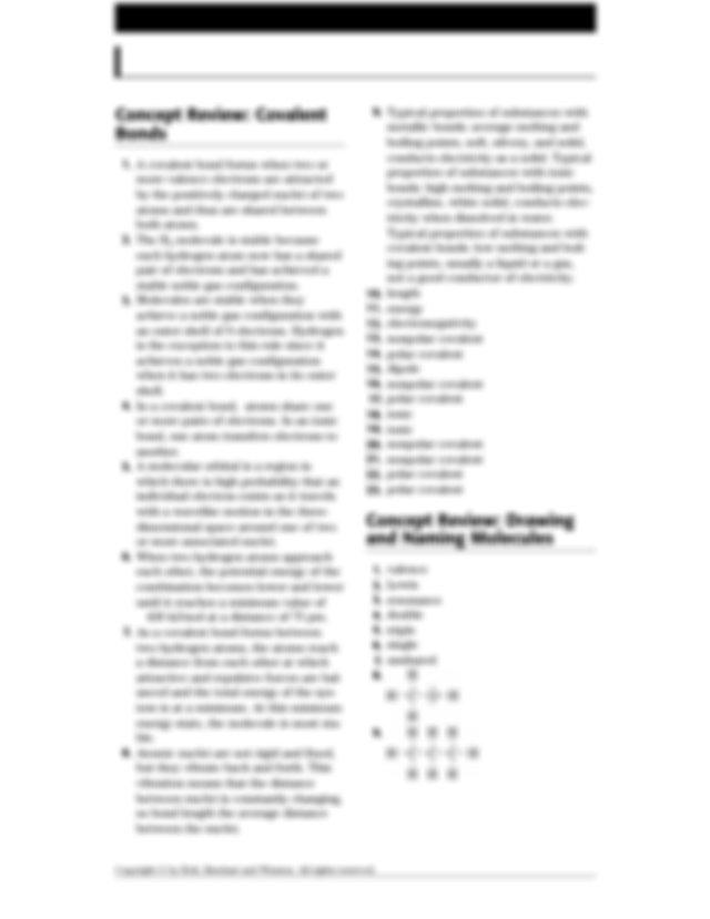 Holt Chemistry 41 Covalent Compounds Answer Key TEACHER