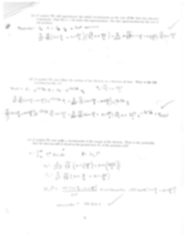 Physics 210: Test 1, Test 2, Test 3, and Final Exam with