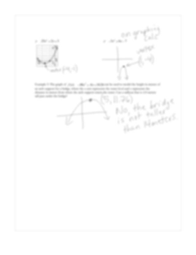 9 2 Characteristics Of Quadratic Functions Algebra 1