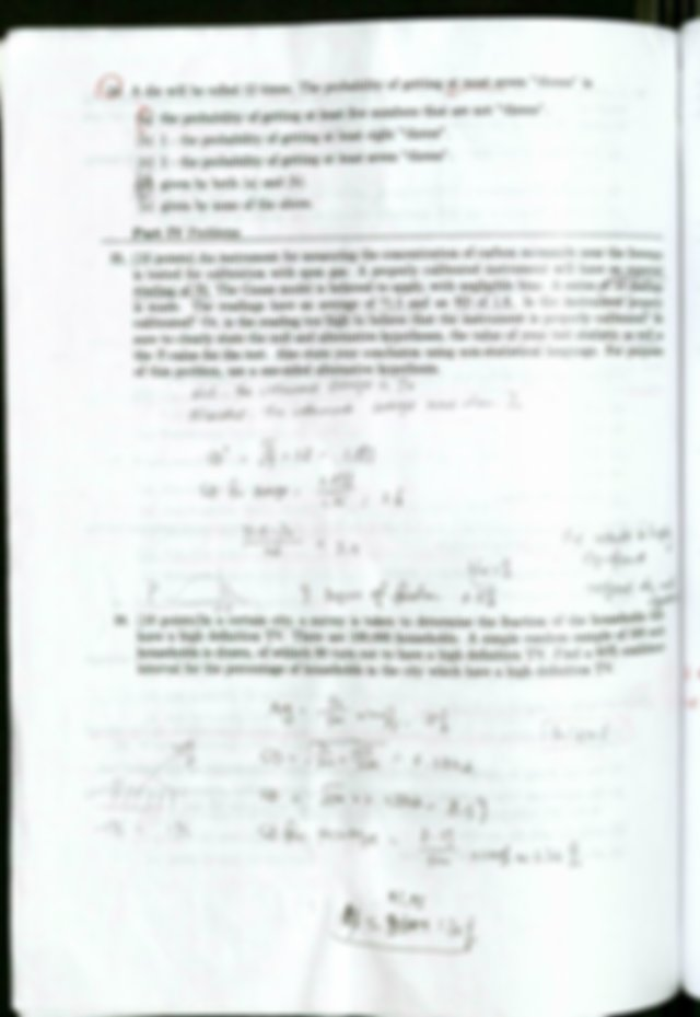 Math 147 Final exam sample with answer