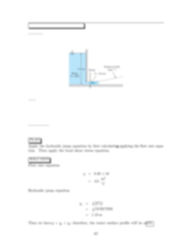 Find a Determine if a hydraulic jump will form i If a jump