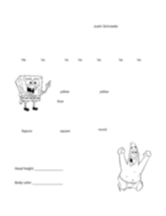 Spongebob Genetics Answer Key Page 3 : Spongebob Genetics