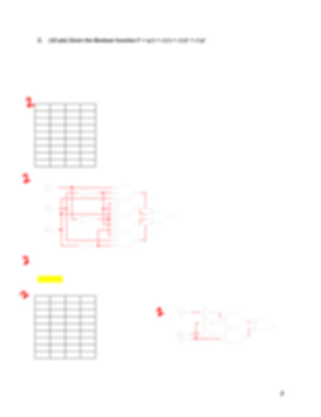 a List the truth table b Draw the logic diagram using the