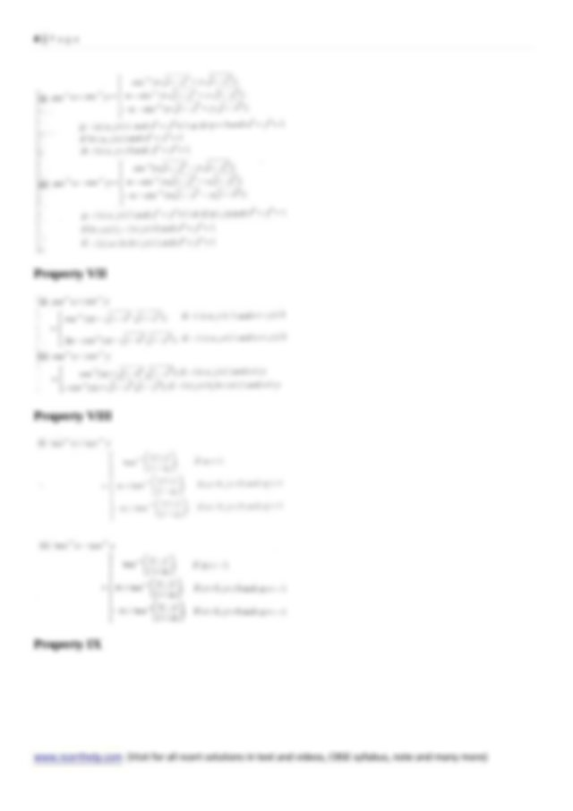 Mathematics Notes and Formula for Class 12 Chapter 2