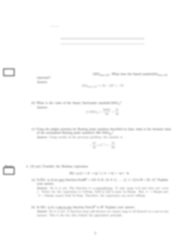 Practice Midterm Exam Solution on Applied Discrete