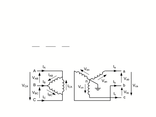 Delta Wye Connection Figure 743 gives the connection
