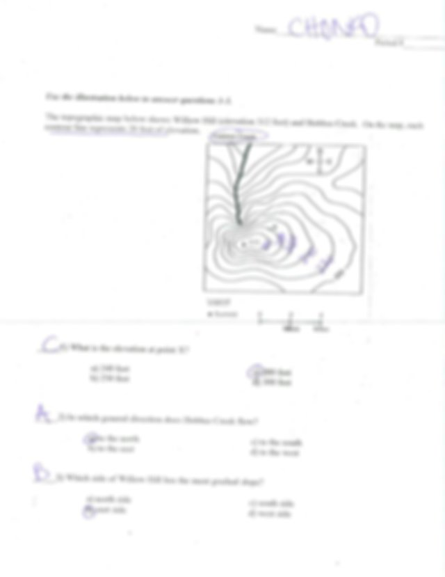 topographic maps practice packet answer key (2).pdf