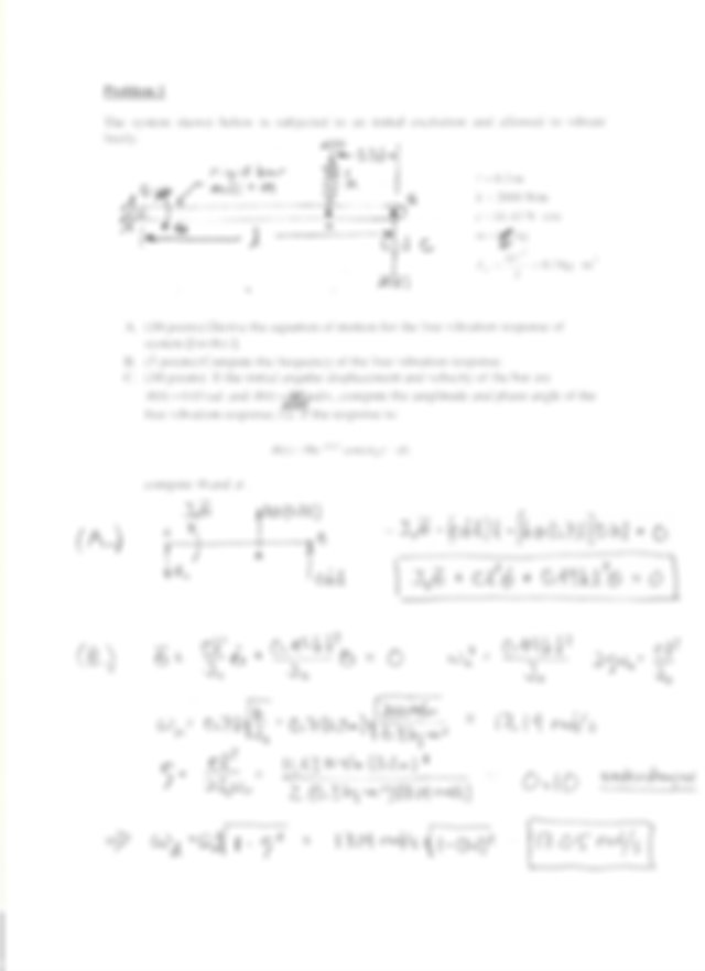 Optional Quiz Solution Spring 2005 on Mechanical