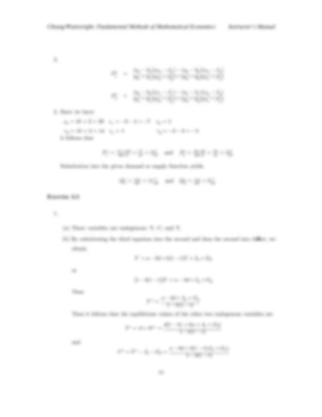Solution Manual for Fundamental Methods of Mathematical